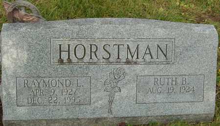 HORSTMAN, RAYMOND - Franklin County, Ohio | RAYMOND HORSTMAN - Ohio Gravestone Photos