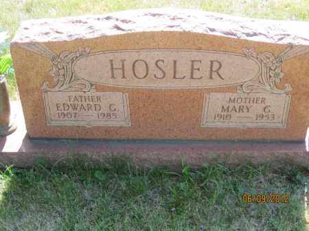 HOSLER, MARY GERTRUDE - Franklin County, Ohio | MARY GERTRUDE HOSLER - Ohio Gravestone Photos