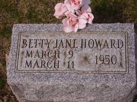 HOWARD, BETTY JANE - Franklin County, Ohio | BETTY JANE HOWARD - Ohio Gravestone Photos