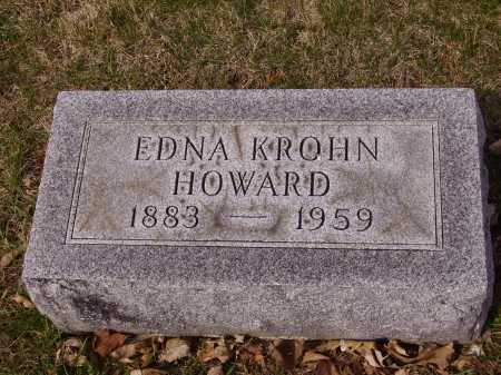 KROHN HOWARD, EDNA - Franklin County, Ohio | EDNA KROHN HOWARD - Ohio Gravestone Photos