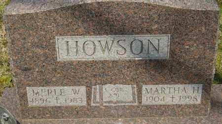 HOWSON, MERLE W - Franklin County, Ohio | MERLE W HOWSON - Ohio Gravestone Photos