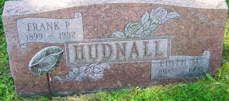 HUDNALL, FRANK P - Franklin County, Ohio | FRANK P HUDNALL - Ohio Gravestone Photos