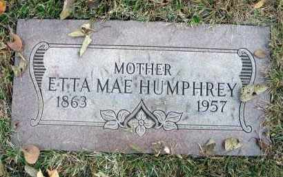 HUMPHREY, ETTA MAE - Franklin County, Ohio | ETTA MAE HUMPHREY - Ohio Gravestone Photos