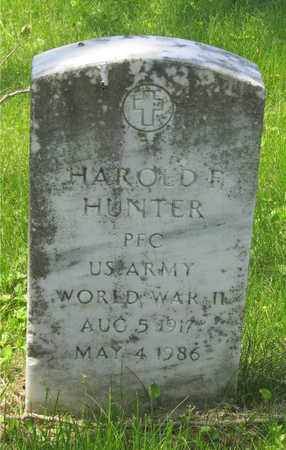 HUNTER, HAROLD F. - Franklin County, Ohio | HAROLD F. HUNTER - Ohio Gravestone Photos