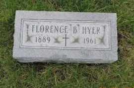 HYER, FLORENCE B. - Franklin County, Ohio | FLORENCE B. HYER - Ohio Gravestone Photos