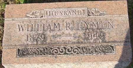 HYMEN, WILLIAM R - Franklin County, Ohio | WILLIAM R HYMEN - Ohio Gravestone Photos