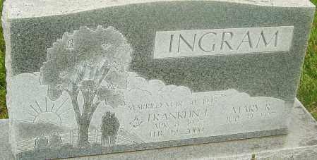 INGRAM, FRANKLIN J - Franklin County, Ohio | FRANKLIN J INGRAM - Ohio Gravestone Photos
