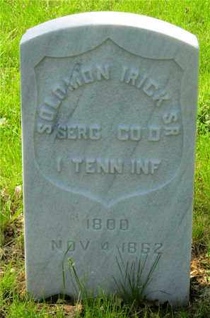 IRICK, SOLOMON - Franklin County, Ohio | SOLOMON IRICK - Ohio Gravestone Photos