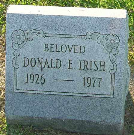 IRISH, DONALD E - Franklin County, Ohio | DONALD E IRISH - Ohio Gravestone Photos