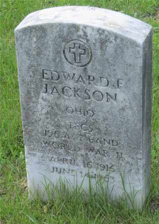 JACKSON, EDWARD F. - Franklin County, Ohio | EDWARD F. JACKSON - Ohio Gravestone Photos