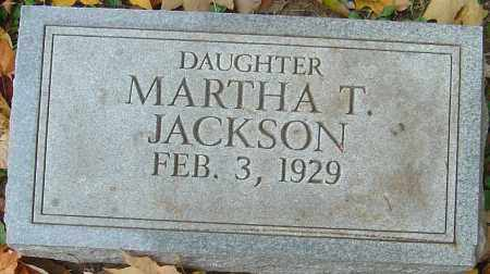 JACKSON, MARTHA T - Franklin County, Ohio | MARTHA T JACKSON - Ohio Gravestone Photos