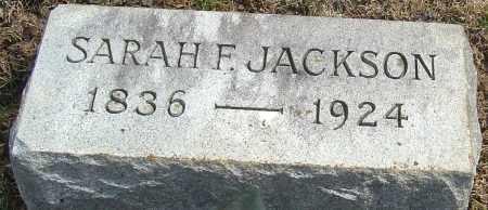 JACKSON, SARAH F - Franklin County, Ohio | SARAH F JACKSON - Ohio Gravestone Photos