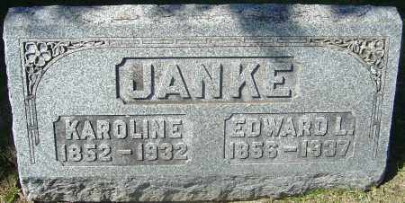JANKE, EDWARD LEOPOLD - Franklin County, Ohio | EDWARD LEOPOLD JANKE - Ohio Gravestone Photos