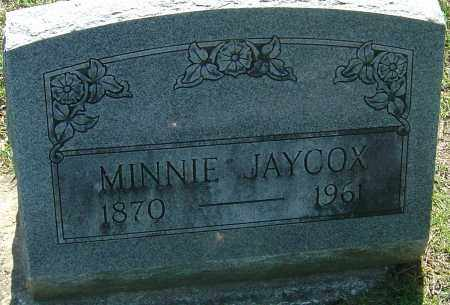 JAYCOX, IDA MINNIE - Franklin County, Ohio | IDA MINNIE JAYCOX - Ohio Gravestone Photos