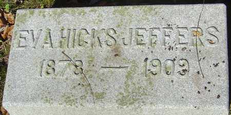 HICKS JEFFERS, EVA - Franklin County, Ohio | EVA HICKS JEFFERS - Ohio Gravestone Photos