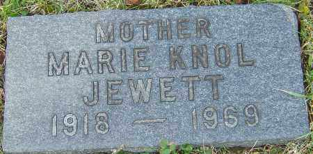 KNOL JEWETT, MARIE - Franklin County, Ohio | MARIE KNOL JEWETT - Ohio Gravestone Photos
