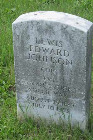 JOHNSON, LEWIS EDWARD - Franklin County, Ohio | LEWIS EDWARD JOHNSON - Ohio Gravestone Photos