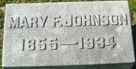 JOHNSON, MARY F - Franklin County, Ohio | MARY F JOHNSON - Ohio Gravestone Photos