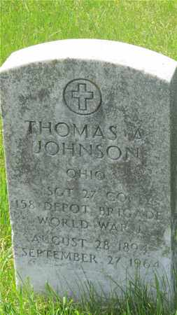 JOHNSON, THOMAS A. - Franklin County, Ohio | THOMAS A. JOHNSON - Ohio Gravestone Photos
