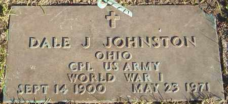 JOHNSTON, DALE J - Franklin County, Ohio | DALE J JOHNSTON - Ohio Gravestone Photos