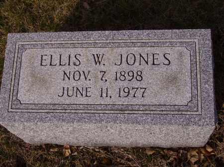JONES, ELLIS W. - Franklin County, Ohio | ELLIS W. JONES - Ohio Gravestone Photos