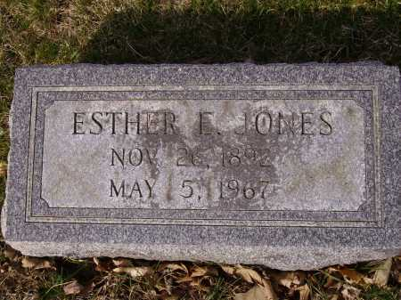 JONES, ESTHER E. - Franklin County, Ohio | ESTHER E. JONES - Ohio Gravestone Photos