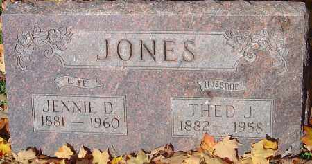 JONES, THED J - Franklin County, Ohio | THED J JONES - Ohio Gravestone Photos