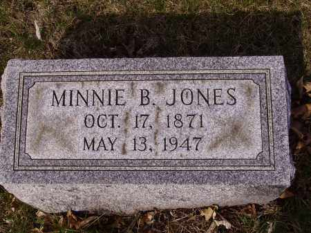 JONES, MINNIE B. - Franklin County, Ohio | MINNIE B. JONES - Ohio Gravestone Photos