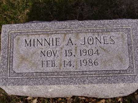 JONES, MINNIE A. - Franklin County, Ohio | MINNIE A. JONES - Ohio Gravestone Photos