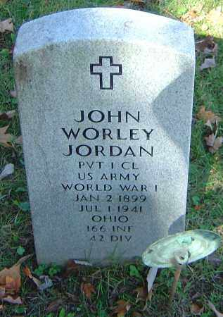 JORDAN, JOHN WORLEY - Franklin County, Ohio | JOHN WORLEY JORDAN - Ohio Gravestone Photos