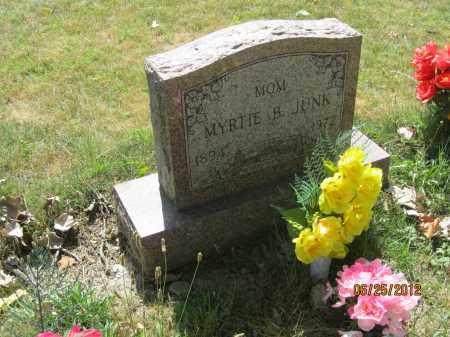JUNK, MYRTIE B - Franklin County, Ohio | MYRTIE B JUNK - Ohio Gravestone Photos