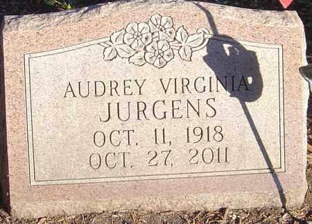 JURGENS, AUDREY VIRGINIA - Franklin County, Ohio | AUDREY VIRGINIA JURGENS - Ohio Gravestone Photos