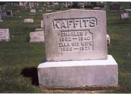 KAFFITS, ELLA - Franklin County, Ohio | ELLA KAFFITS - Ohio Gravestone Photos