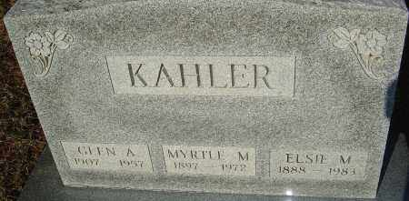 KAHLER, GLEN A - Franklin County, Ohio | GLEN A KAHLER - Ohio Gravestone Photos