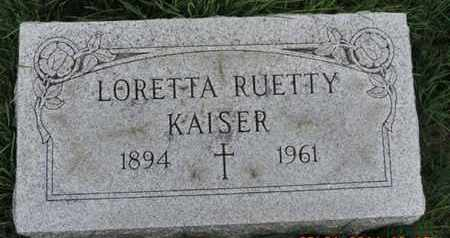 KAISER, LORETTA - Franklin County, Ohio | LORETTA KAISER - Ohio Gravestone Photos