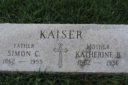 KAISER, KATHERINE B - Franklin County, Ohio | KATHERINE B KAISER - Ohio Gravestone Photos