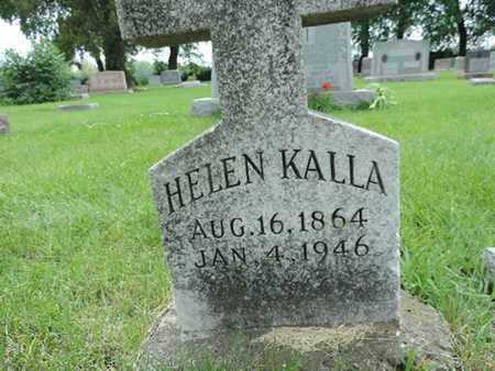 KALLA, HELEN - Franklin County, Ohio | HELEN KALLA - Ohio Gravestone Photos
