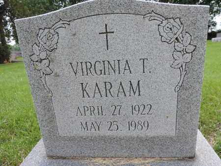 KARAM, VIRGINIA T. - Franklin County, Ohio | VIRGINIA T. KARAM - Ohio Gravestone Photos