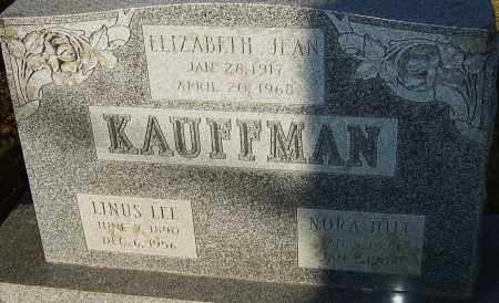 HILL KAUFFMAN, NORA - Franklin County, Ohio | NORA HILL KAUFFMAN - Ohio Gravestone Photos