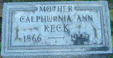 EDWARDS KECK, CALPHURNIA ANN - Franklin County, Ohio | CALPHURNIA ANN EDWARDS KECK - Ohio Gravestone Photos