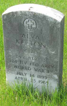 KEETON, ALVA - Franklin County, Ohio | ALVA KEETON - Ohio Gravestone Photos