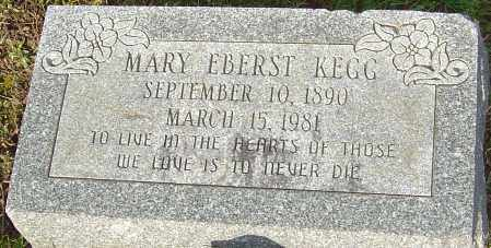 EBERST KEGG, MARY - Franklin County, Ohio | MARY EBERST KEGG - Ohio Gravestone Photos