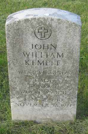 KEMPLE, JOHN WILLIAM - Franklin County, Ohio | JOHN WILLIAM KEMPLE - Ohio Gravestone Photos