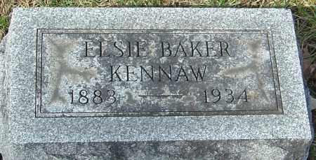 BAKER KENNAW, ELSIE - Franklin County, Ohio | ELSIE BAKER KENNAW - Ohio Gravestone Photos