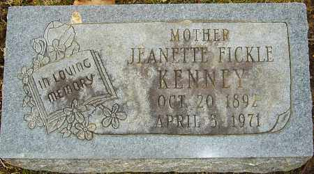 FICKLE KENNEY, JEANETTE - Franklin County, Ohio | JEANETTE FICKLE KENNEY - Ohio Gravestone Photos