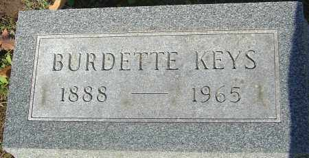KEYS, BURDETTE - Franklin County, Ohio | BURDETTE KEYS - Ohio Gravestone Photos