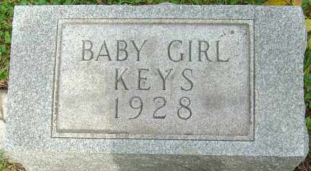 KEYS, BABY GIRL - Franklin County, Ohio | BABY GIRL KEYS - Ohio Gravestone Photos