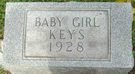 KEYS, BABY GIRL - Franklin County, Ohio | BABY GIRL KEYS - Ohio Gravestone Photos
