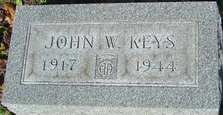 KEYS, JOHN W - Franklin County, Ohio | JOHN W KEYS - Ohio Gravestone Photos