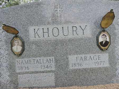 KHOURY, FARAGE - Franklin County, Ohio | FARAGE KHOURY - Ohio Gravestone Photos